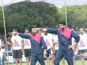 Abhishek Bachchan's Jaipur Pink Panthers at JECRC