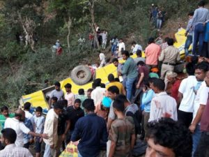 School Bus fall into gorge, dharamshala