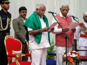 BS Yedyurappa takes oath