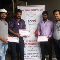 blood donation drive by adani