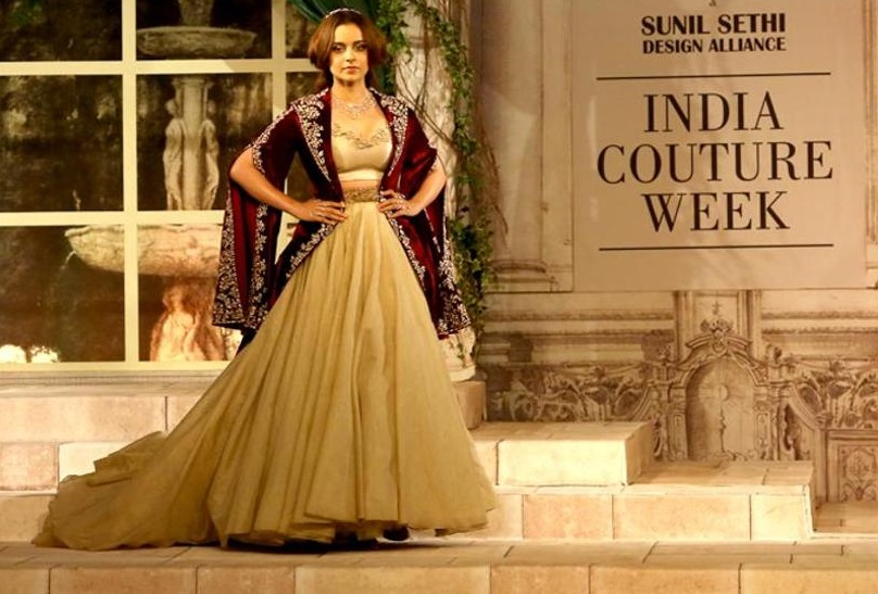 kangana ranaut in Indian Couture Week 2018